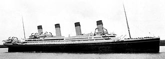 HMHS Britannic - Artist's conception of Britannic in her intended White Star livery