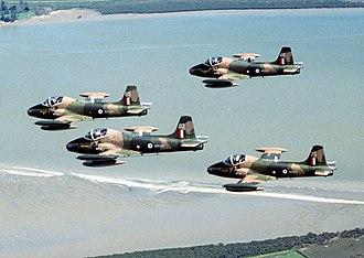 Flight (military unit) - A flight of four RNZAF Strikemasters