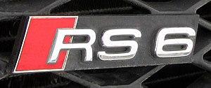 Audi S and RS models - Audi RS6 model emblem