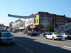 Main Street in Radford, Virginia.