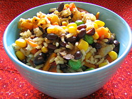 photograph rice-and-beans dish