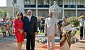 Ram Nath Kovind and the First Lady of India, Smt. Savita Kovind along with the President of the Republic of Suriname, Mr. Desire Delano Bouterse and the First Lady of Suriname, Mrs. Ingrid Bouterse-Waldring.JPG