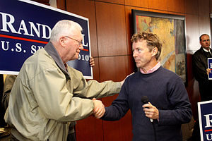 Jim Bunning - Bunning with his eventual successor, Rand Paul