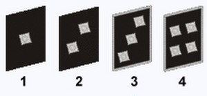 Volkssturm - Gruppenführer (1), Zugführer (2), Kompanieführer (3), Bataillonsführer (4)