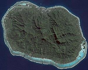 Rarotonga - NASA satellite image of Rarotonga