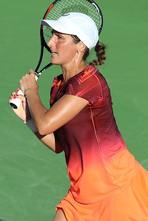 Virginie Razzano - Virginie Razzano at the 2016 US Open