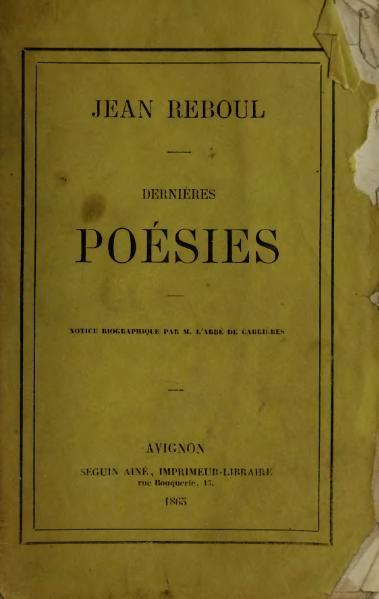 File:Reboul - Dernières Poésies, 1865.djvu