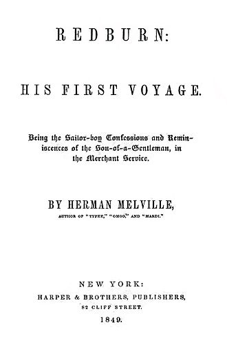 Redburn - First edition title page