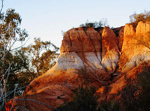 Red Cliffs, Victoria - The cliffs at sunrise