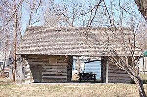 Crib barn - Reese Family Log Barn, Novinger, Missouri U.S.A. National Register of Historic Places 79001344