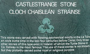 Turoe Stone - Reference to the Turoe stone at the Castlestrange stone Click to read