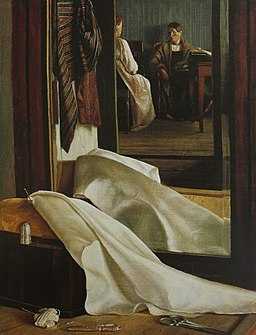 Reflection in the mirror by G.Soroka (c.1850, Russian museum)