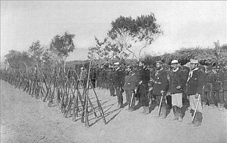 Land Campaign of the War of the Pacific - Infantry regiment of the Chilean Army, formed in Lurín, south of Lima, in January 1881