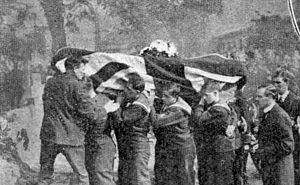 Reginald Warneford - Reginald Warneford's funeral