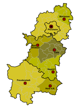 Nordschwarzwald Karte.Region Nordschwarzwald Wikipedia
