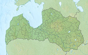 Map showing the location of Gauja National Park