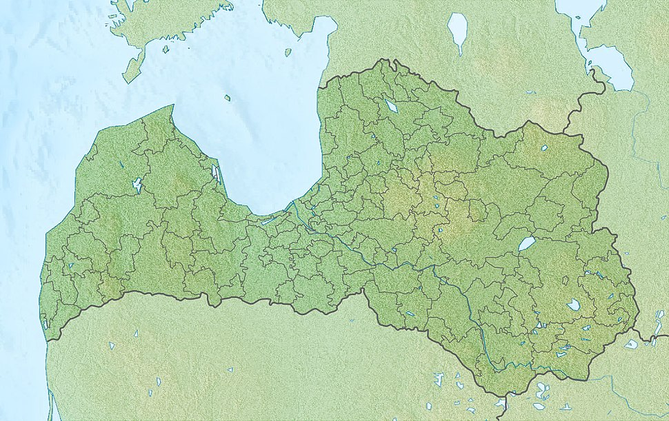 Map showing the location of Ķemeri National Park