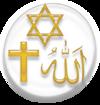 رموز الديانات الإبراهيمية الأكثر انتشارا: اليهودية والمسيحية والإسلام