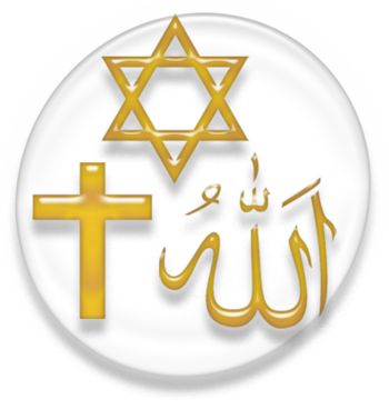Symbol of the three Abrahamic religions.