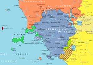 Principality of Piombino - Image: Repubblica di Siena e Principato di Piombino tra XV e XVI secolo