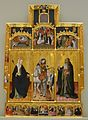 Retaule de Sant Martí amb Santa Úrsula i Sant Antoni Abat, Gonçal Peris, Museu de Belles Arts de València.JPG