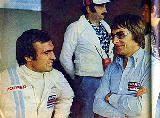 Bernie Ecclestone - Ecclestone (right) with Carlos Reutemann at the 1975 Austrian Grand Prix