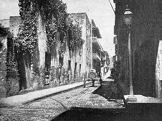 Panama City - The Old Quarter of Panama City, circa 1903