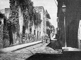 Panama City - The Old Quarter of Panama City, circa 1903