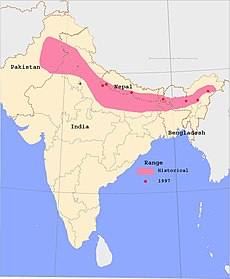 Indian Rhinoceros range