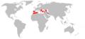 Rhinolophus mehelyi range Map.png