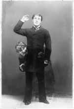 Double-exposure photograph of late-19th-century actor Richard Mansfield as Dr. Jekyll and Mr. Hyde
