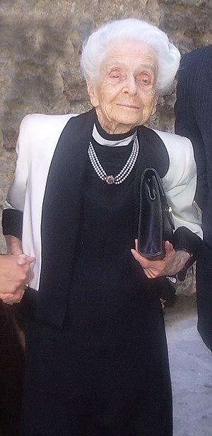 Photo of Rita Levi Montalcini, italian senator...