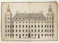 Ritning på Skoklosters slott från 1680 - Skoklosters slott - 98116.tif