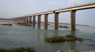 Godavari River - Road Bridge over Godavari River at Bhadrachalam