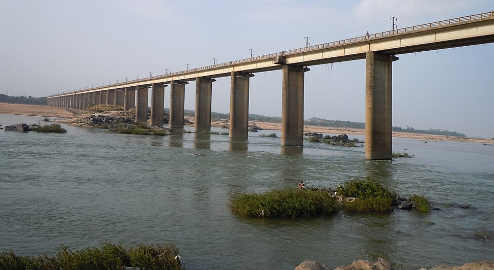 Road Bridge over Godavari River at Bhadrachalam