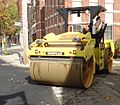 Road paving vehicle for smoothing in New Jersey 3.JPG