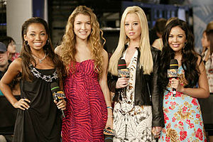 The cast of the 2007 film Bratz, at MuchMusic ...