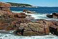 Rocky shore & waves (next to Thunder Hole, Mt. Desert Island, Maine, USA) 2.jpg
