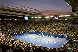 2018 Australian Open - Rod Laver Arena where the Finals of the Australian Open will take place