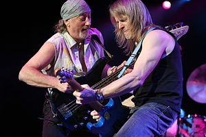 Roger Glover and Steve Morse of Deep Purple jamming