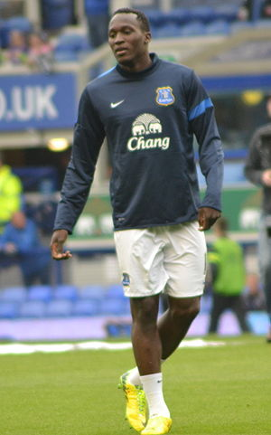 Romelu Lukaku - Lukaku warming up for Everton in 2014