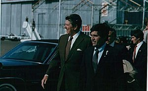Harrison Schmitt - Senator Schmitt with then-President Ronald Reagan in Roswell, New Mexico, October 1982