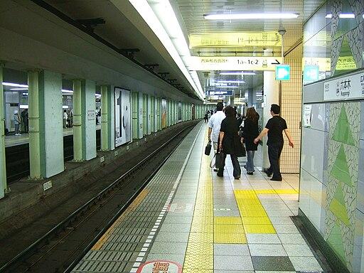 Roppongi Station (H01) platform, Tokyo Metro - 20080521