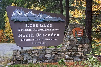 National Recreation Area - A sign for the Ross Lake National Recreation Area in Washington State