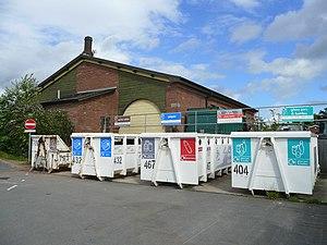 Ross-on-Wye railway station - Ross on Wye station yard.