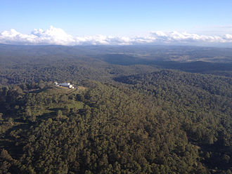 Round Mountain (Northern Tablelands) - Round Mountain Radar Station, from the air
