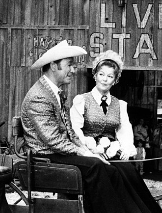 Dale Evans - Roy Rogers and Evans at Knott's Berry Farm in the 1970s
