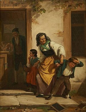 Christian Ruben - The Truant's Return to School