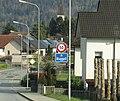 Ruggell Liechtenstein Ortsbeginn auf Hauptstrasse (West).jpg