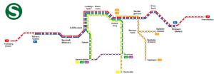 Rhine-Neckar S-Bahn - Rhine-Neckar S-Bahn network